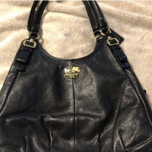 Coach Black Leather Maggie